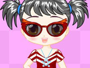 Adorable doll dress up game