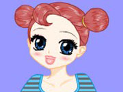 Girl with big eyes dress up game