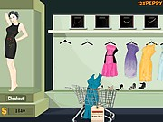 Shop n dress food roll game holiday dress