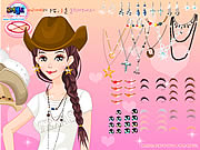 Texan beauty dress up